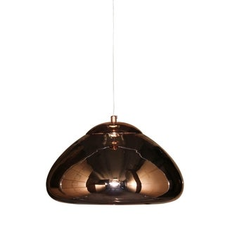 Neptune Polished Copper Mirrored 1-light Pendant Chandelier