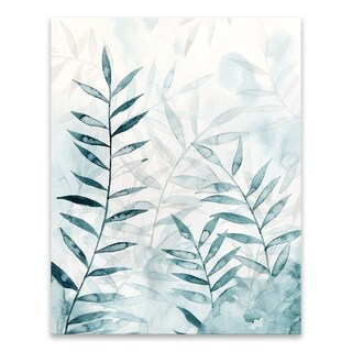 Bamboo Whisper I Coated Embellished Canvas - 22W x 28H x 1.25D