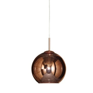 Moon Mirrored Pendant Chandelier Polished Copper