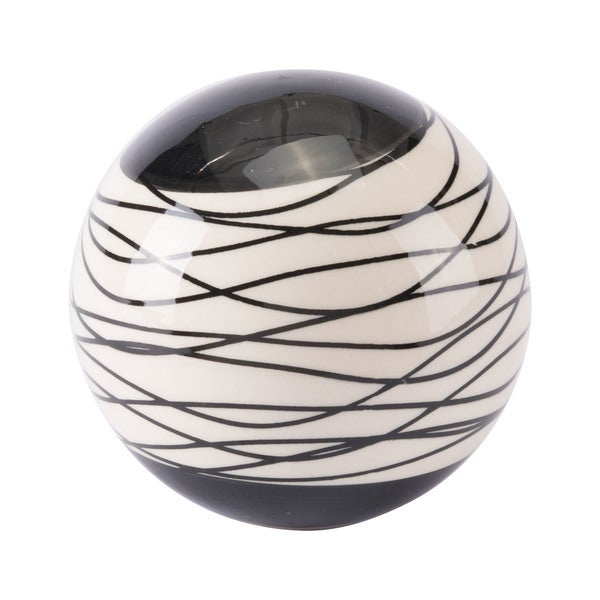The Curated Nomad Black and Ivory Orb - N/A