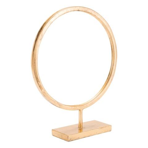 Circle Figurine Lg Gold