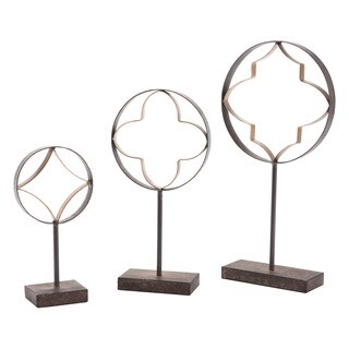 Set Of 3 Quatrefoil With Pedestal Antiqu