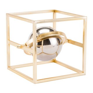 Floating Orb Gold & Silver