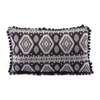 Porch & Den Black and White Tribal Pattern Throw Pillow