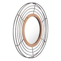 Tron Round Steel Antique Mirror