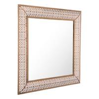 Moroccan Escamas Steel Antique Gold Finish Moroccan-inspired Mirror