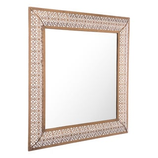 Moroccan Escamas Steel Antique Gold Finish Moroccan-inspired Mirror