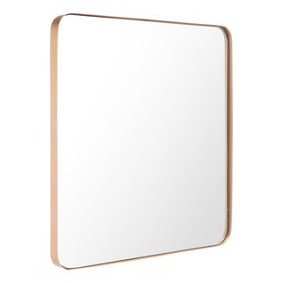 Gold Steel-framed Square Wall Mirror