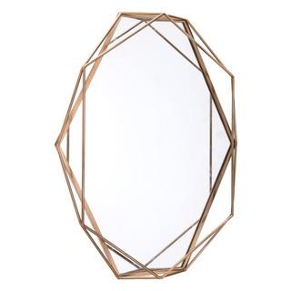 Octagonal Antique Steel Mirror