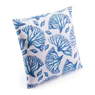 Blue Coral Pillow Blue & White