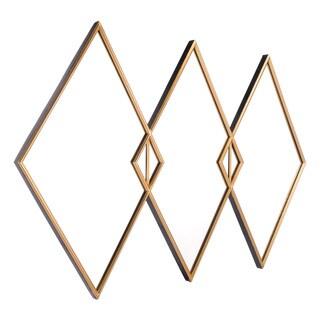 Tres Gold Finish Steel Mirror