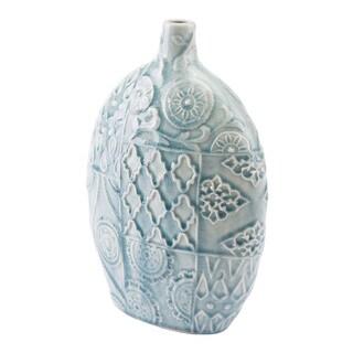 Medallion Sm Vase Blue