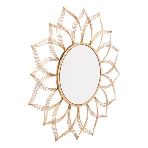 Flower Gold Mirror Gold