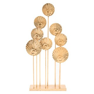 Round Leaf Table Decor Gold