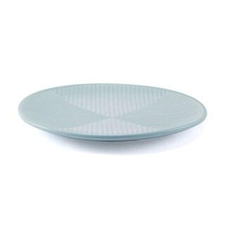Herringbone Plate Blue