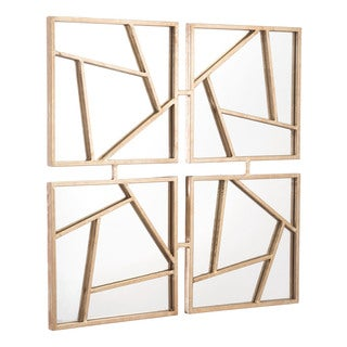Four Faces Gold Steel Wall Mirror