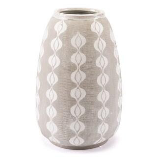 Libre Whtie and Grey Ceramic Decorative Bottle