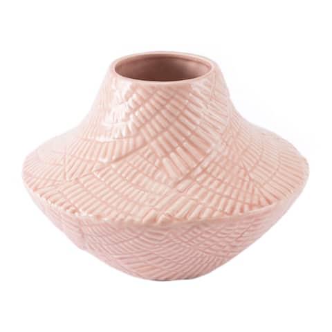 Roco Short Vase Pink