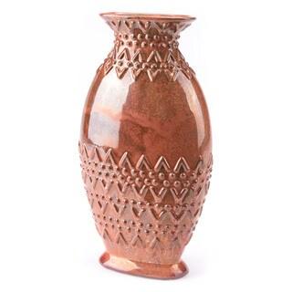 Toltec Lg Vase Red