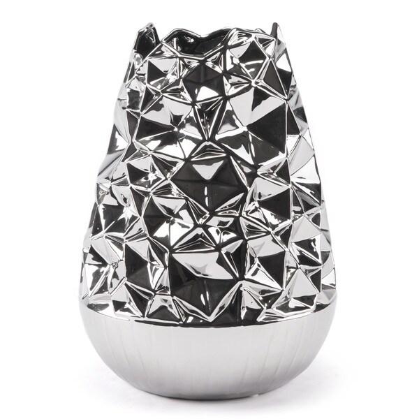 Line Vase Lg Silver