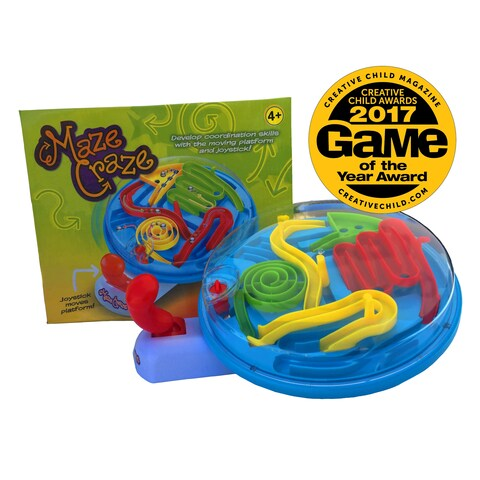 Maze Craze- Circle. Tabletop maze game, no batteries required - Blue
