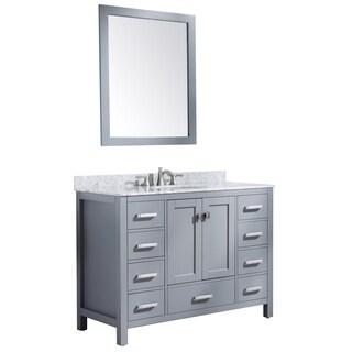 ANZZI Chateau 48 in. W x 36 in. H Grey Single Sink Vanity Set