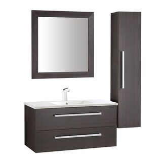 ANZZI Conques 39 in. W x 20 in. H Rich Umber Single Sink Vanity Set