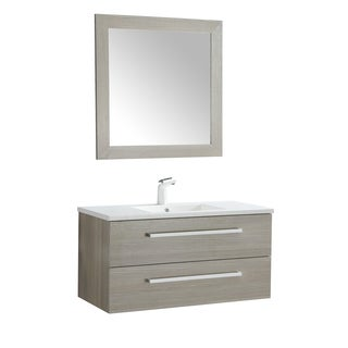 ANZZI Conques 39 in. W x 20 in. H Grey Single Sink Vanity Set