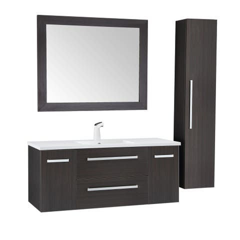 ANZZI Conques 48 in. W x 20 in. H Bathroom Vanity Set in Rich Umber