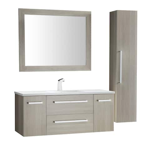 ANZZI Conques 48 in. W x 20 in. H Bathroom Vanity Set in Rich Gray