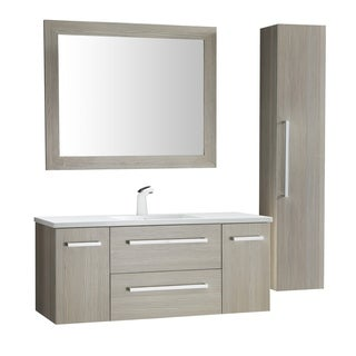 ANZZI Conques 48 in. W x 20 in. H Grey Single Sink Vanity Set