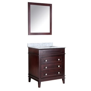 ANZZI Wineck 30 in. W x 35 in. H Rich Chocolate Single Sink Vanity Set