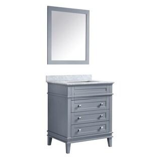 ANZZI Wineck 36 in. W x 35 in. H Grey Single Sink Vanity Set