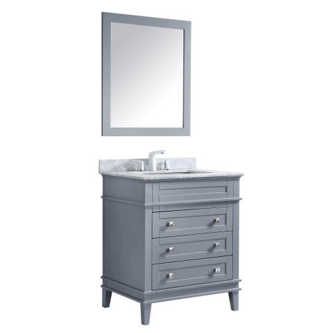 ANZZI Wineck 30 in. W x 35 in. H Grey Single Sink Vanity Set