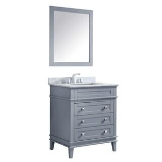 ANZZI Wineck 30 in. W x 35 in. H Grey Single Sink Vanity Set