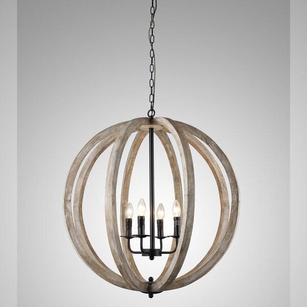 Y decor capoli 4 light wooden orb chandelier in neutral finish y decor capoli 4 light wooden orb chandelier in neutral finish aloadofball Image collections