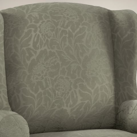 Stretch Sensations Stretch Floral Wing Chair Slipcover - wing chair - wing chair