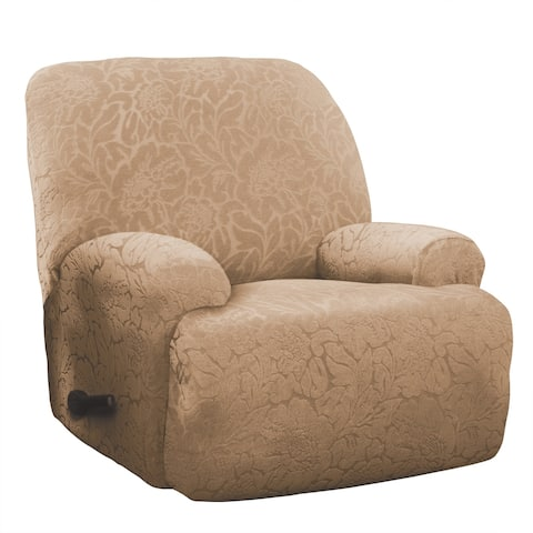 Stretch Sensations Stretch Floral Jumbo Recliner Slipcover - jumbo recliner - jumbo recliner