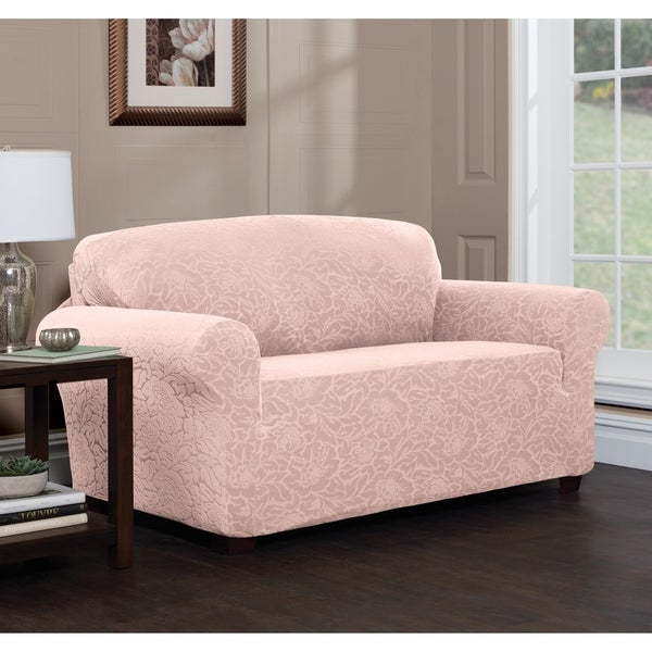 Shop Stretch Sensations Stretch Floral Sofa Slipcover - On Sale ...
