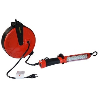 Ultra Performance 16/3 30 Ft Retractable Cord Reel with 20 SMD Worklight