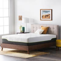 LUCID Comfort Collection 12-inch Queen-size Premium Support Memory Foam Hybrid Mattress