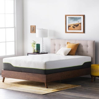 LUCID Comfort Collection 12-inch King-size Latex Hybrid Mattress