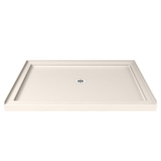 DreamLine SlimLine 36 in. D x 42 in. W x 2 3/4 in. H Single Threshold Shower Base (Option: Cream)