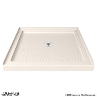 DreamLine SlimLine 42 in. D x 42 in. W x 2 3/4 in. H Single Threshold Shower Base (Option: Cream)