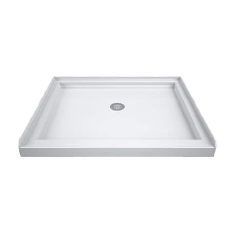 "DreamLine SlimLine 42 in. D x 42 in. W x 2 3/4 in. H Single Threshold Shower Base - 42"" x 42"""