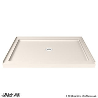 DreamLine SlimLine 32 in. D x 42 in. W x 2 3/4 in. H Single Threshold Shower Base (Option: Cream)
