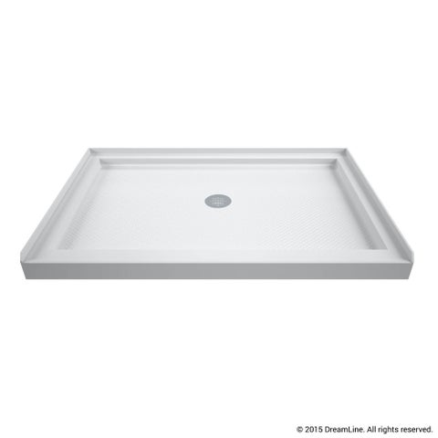 DreamLine SlimLine 32 in. D x 42 in. W x 2 3/4 in. H Single Threshold Shower Base
