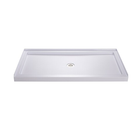 DreamLine SlimLine 32 in. D x 54 in. W x 2 3/4 in. H Single Threshold Shower Base
