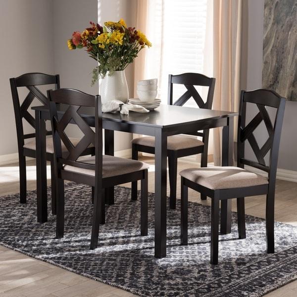 Copper Grove Monongahela Contemporary Fabric 5-Piece Dining Set
