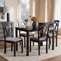 Contemporary Fabric Finished 5-Piece Dining Set by Baxton Studio